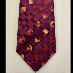 Ben Sherman Men's Purple Polka Dot Tie 100% Silk